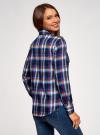 Рубашка с нагрудными карманами oodji #SECTION_NAME# (синий), 13L11006-1B/42850/7945C - вид 3