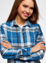 Блузка принтованная из вискозы oodji #SECTION_NAME# (синий), 11411098-4/45208/7410C - вид 4
