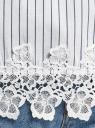 Блузка хлопковая с кружевной отделкой oodji для женщины (белый), 13K24001-1/33511/1075S