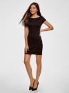 Платье из фактурной ткани с вырезом-лодочкой oodji #SECTION_NAME# (черный), 14001117-11B/45211/2900N - вид 6