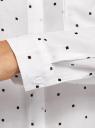 Блузка свободного силуэта с декоративными пуговицами на спине oodji #SECTION_NAME# (белый), 11401275/24681/1229D - вид 5