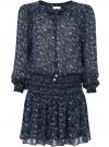 Платье принтованное из шифона oodji #SECTION_NAME# (синий), 11913022/17358/7910E - вид 6