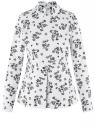 Блузка хлопковая с баской oodji #SECTION_NAME# (белый), 13K00001B/26357/1029F