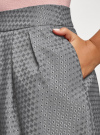 Юбка расклешенная с мягкими складками oodji #SECTION_NAME# (серый), 11600388-2/46140/2529D - вид 5