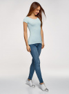 Комплект футболок с вырезом-капелькой на спине (3 штуки) oodji #SECTION_NAME# (синий), 14701026T3/46147/7000N - вид 6