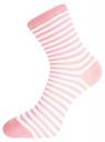 Комплект хлопковых носков в полоску (3 пары) oodji для женщины (разноцветный), 57102813T3/48022/20