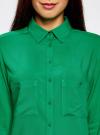 Блузка базовая из вискозы с карманами oodji #SECTION_NAME# (зеленый), 11400355-4/26346/6D00N - вид 4