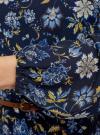 Платье из шифона с ремнем oodji для женщины (синий), 11900150-5B/32823/7975F - вид 5