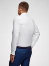 Рубашка хлопковая приталенная oodji #SECTION_NAME# (белый), 3B110007M/34714N/1000N - вид 3
