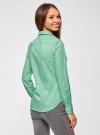 Рубашка базовая из хлопка oodji #SECTION_NAME# (зеленый), 11403227B/14885/6501N - вид 3