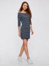 Платье трикотажное базовое oodji для женщины (синий), 14001071-2B/46148/7910S - вид 6