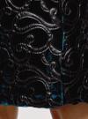 Юбка бархатная с аппликацией из искусственной кожи oodji #SECTION_NAME# (зеленый), 24101045-2/46067/6E00N - вид 4