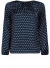 Блузка свободного кроя с вырезом-капелькой oodji #SECTION_NAME# (черный), 21400321-2/33116/2975G