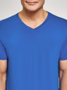 Футболка базовая с V-образным вырезом oodji для мужчины (синий), 5B612002M/46737N/7503N
