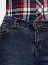 Джинсы skinny со средней посадкой oodji для женщины (синий), 12103161/46341/7900W
