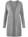 Кардиган без застежки с накладными карманами oodji #SECTION_NAME# (серый), 19208002/45723/2300M