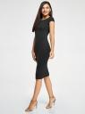 Платье миди с вырезом на спине oodji для женщины (черный), 24001104-5B/47420/2900N