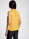 Блузка базовая без рукавов с воротником oodji #SECTION_NAME# (желтый), 11411084B/43414/5200N - вид 3