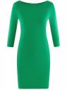 Платье трикотажное базовое oodji #SECTION_NAME# (зеленый), 14001071-2B/46148/6D00N