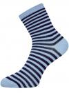 Носки базовые хлопковые oodji для женщины (синий), 57102466B/47469/7079S - вид 2