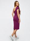 Платье миди с вырезом на спине oodji #SECTION_NAME# (фиолетовый), 24001104-5B/47420/8300N - вид 3