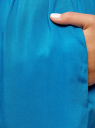 Платье вискозное без рукавов oodji #SECTION_NAME# (синий), 11910073B/26346/7500N - вид 5