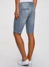 Шорты джинсовые с потертостями oodji #SECTION_NAME# (синий), 6L220016M/35771/7000W - вид 3
