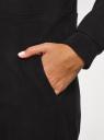 Комбинезон домашний из флиса с ушками на капюшоне oodji для женщины (черный), 59809004/24336/2900N