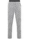 Брюки пижамные принтованные oodji #SECTION_NAME# (серый), 7L400101I-1/47885N/2010G