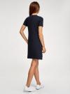 Платье трикотажное свободного силуэта oodji #SECTION_NAME# (синий), 14000162-11/47481/7976P - вид 3