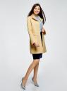 Пальто прямого силуэта из фактурной ткани oodji #SECTION_NAME# (желтый), 10104043/43312/5200N - вид 6