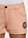 Шорты хлопковые с нашивками oodji #SECTION_NAME# (розовый), 11804005-4/49178/4300N - вид 4