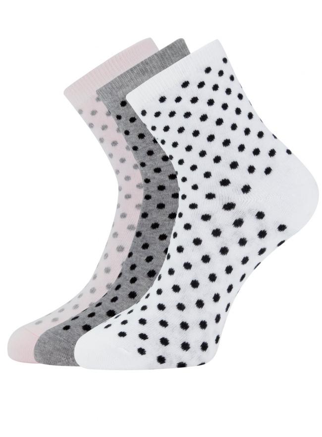 Комплект из трех пар носков oodji для женщины (серый), 57102466T3/47469/2040D