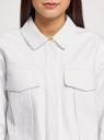 Куртка джинсовая на кнопках oodji для женщины (белый), 11109040-1/49848/1000N