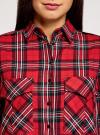 Платье-рубашка с карманами oodji #SECTION_NAME# (красный), 11911004-2/45252/4529C - вид 4