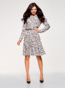 Платье вискозное с ремнем oodji #SECTION_NAME# (розовый), 21912001-2B/26346/4075F - вид 2