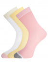 Комплект из трёх пар носков oodji #SECTION_NAME# (разноцветный), 57102908T3/15430/5 - вид 2