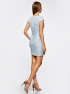 Платье трикотажное кружевное oodji #SECTION_NAME# (синий), 14001154/42644/7000L - вид 3