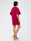 Платье прямого силуэта с воланами на рукавах oodji #SECTION_NAME# (красный), 14000172B/48033/4C00N - вид 3