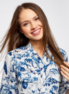 Блузка вискозная с нагрудными карманами oodji #SECTION_NAME# (слоновая кость), 21411115/46436/3079F - вид 4