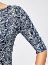 Платье трикотажное облегающее oodji #SECTION_NAME# (синий), 14001121-3B/16300/7912L - вид 5
