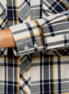 Рубашка в клетку с нагрудными карманами oodji #SECTION_NAME# (белый), 11411052-2/45624/1279C - вид 5