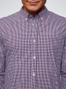 Рубашка в мелкую клетку oodji для мужчины (красный), 3B310061M/39511N/4579C