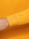 Свитшот хлопковый с надписью oodji #SECTION_NAME# (желтый), 5L123009I/48823N/5229P - вид 5