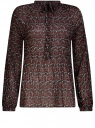 Блузка гофрированная с завязками oodji #SECTION_NAME# (красный), 11414005/46166/494AF