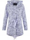 Куртка удлиненная на кулиске oodji для женщины (синий), 11D03006/24058/7012F