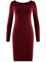 Платье трикотажное облегающего силуэта oodji #SECTION_NAME# (красный), 14001183B/46148/4900N