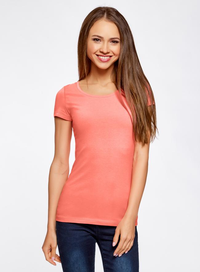 Комплект приталенных футболок (2 штуки) oodji для женщины (красный), 14701005T2/46147/4300N