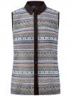Топ из струящейся ткани с контрастной отделкой oodji для женщины (разноцветный), 14903001-1B/42816/2975G
