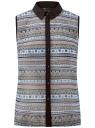 Топ из струящейся ткани с контрастной отделкой oodji #SECTION_NAME# (разноцветный), 14903001-1B/42816/2975G